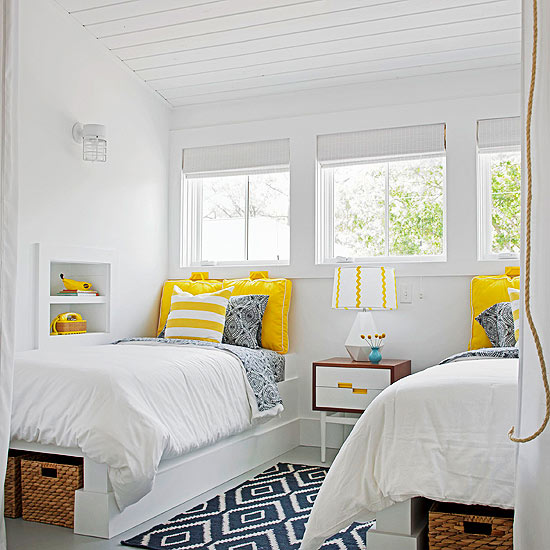 shared bedroom built in beds better homes and gardens