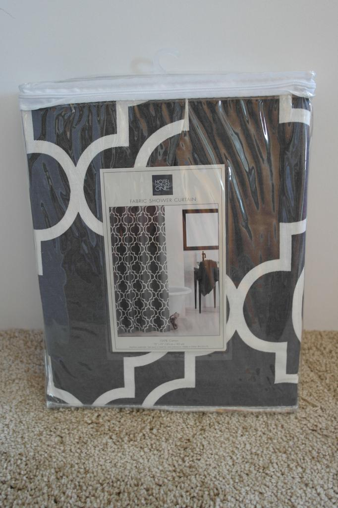 use a shower curtain to make a headboard cover, Sypsie Designs on  Remodelaholic - Remodelaholic Easy No-Sew Headboard Slipcover Tutorial