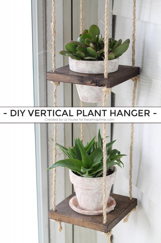 vertical hanging planter