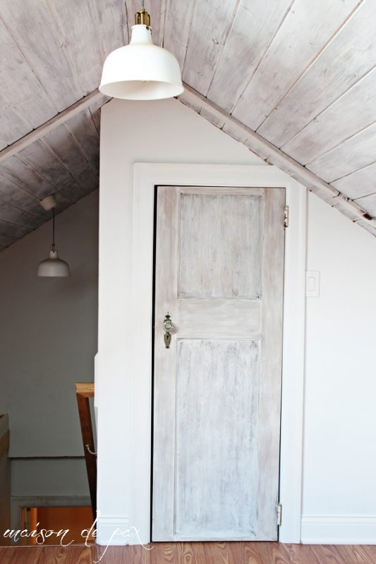 Whitewashed Attic | Maison de Pax on Remodelaholic.com