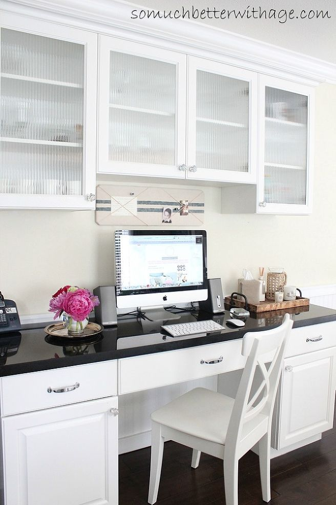 clever kitchen design. kitchen office Remodelaholic  25 Clever Kitchen Storage Ideas