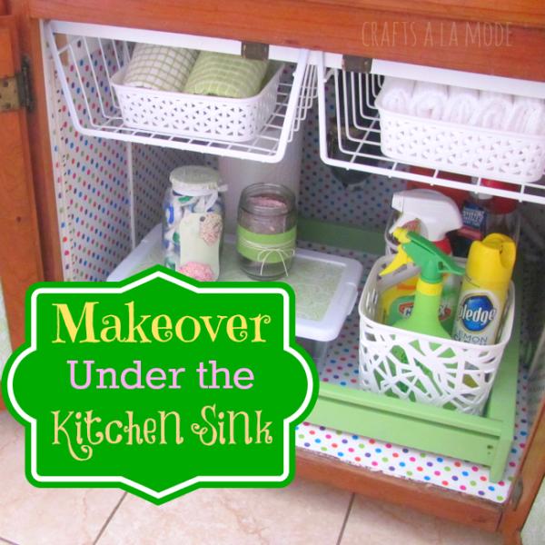 under the sink kitchen organization