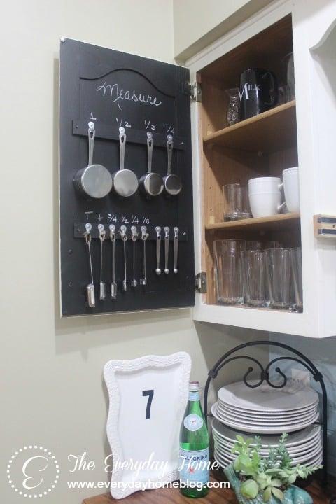 organizing measuring spoons