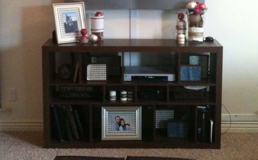 Remodelaholic Transform Ikea Cubbies Into A Pottery Barn Console