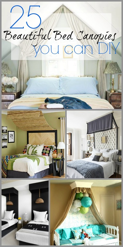 25 Beautiful Bed Canopies You Can DIY. Remodelaholic   25 Beautiful Bed Canopies You Can DIY