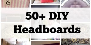 50 DIY Headboards via Remodelaholic