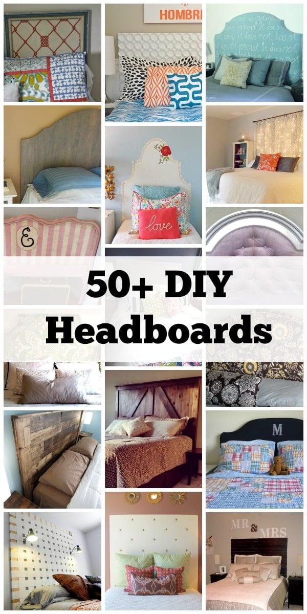 50+ DIY Handmade Headboards + Link Party