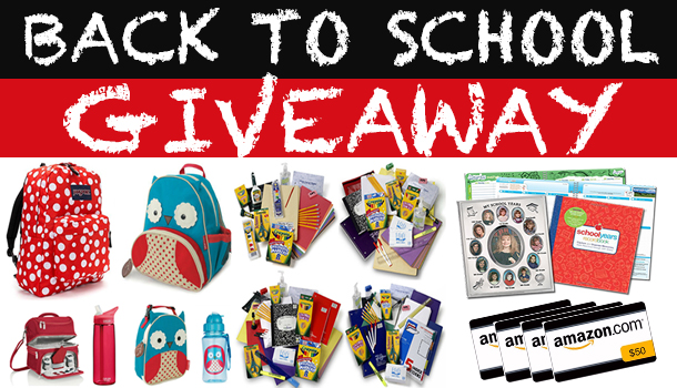 Huge Back to School Giveaway!