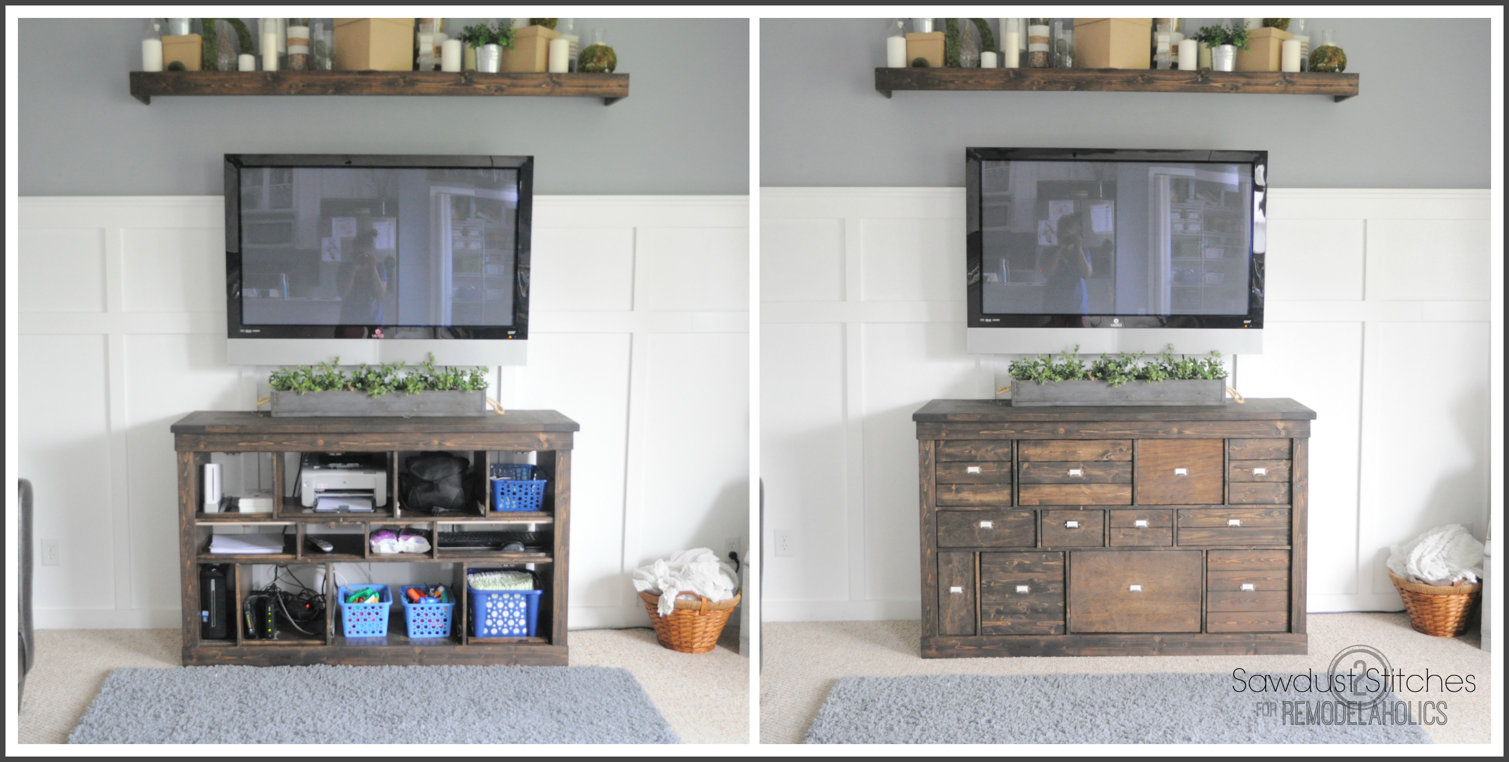 Remodelaholic transform ikea cubbies into a pottery barn for Transform ikea furniture