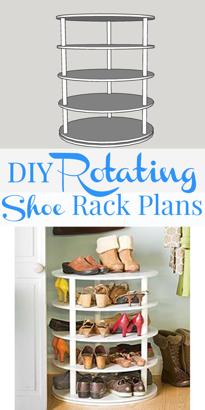 remodelaholic rotating shoe rack building plan. Black Bedroom Furniture Sets. Home Design Ideas