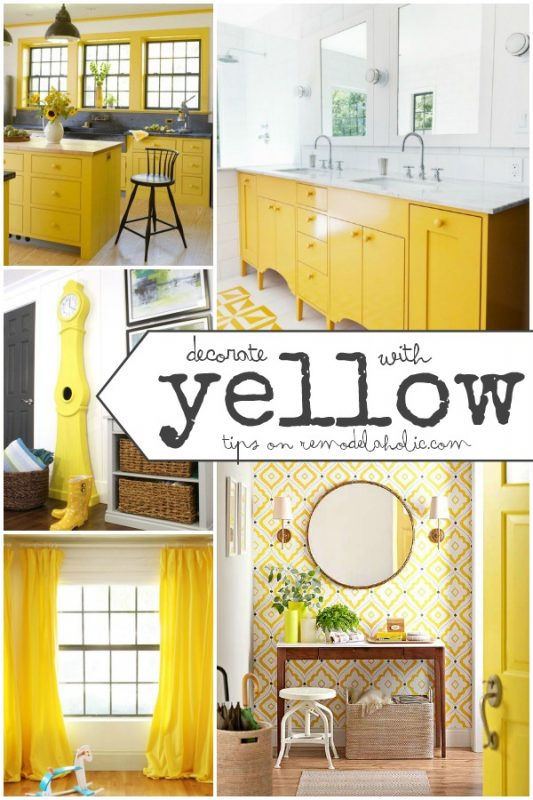 Decorate with Yellow | Tips and Inspiration on Remodelaholic.com #yellow #colorfiles #decorating