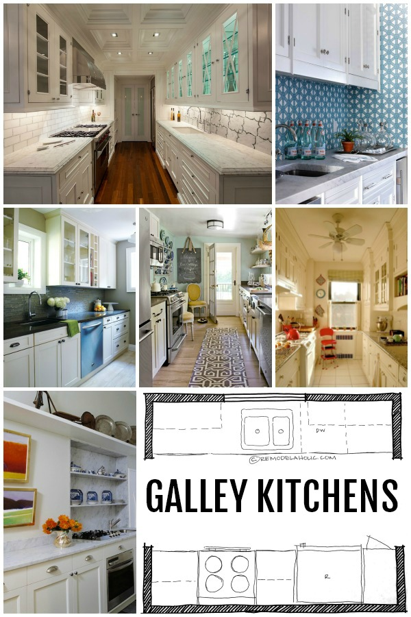 Remodelaholic popular kitchen layouts and how to use them for House plans with galley kitchen