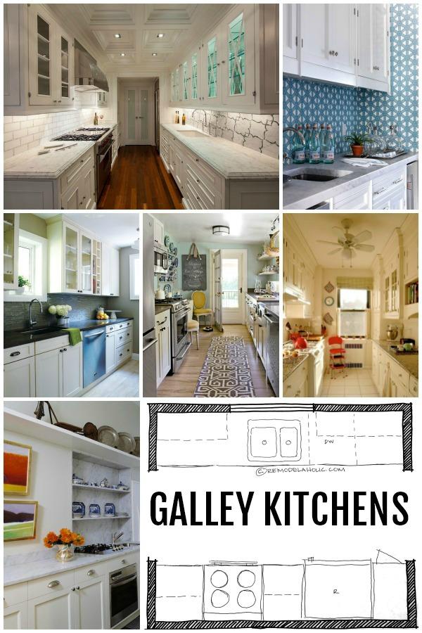 Galley Kitchen Layout Designs Galleykitchenlayoutsviaremodelaholic 600×900 Pixels  Wood