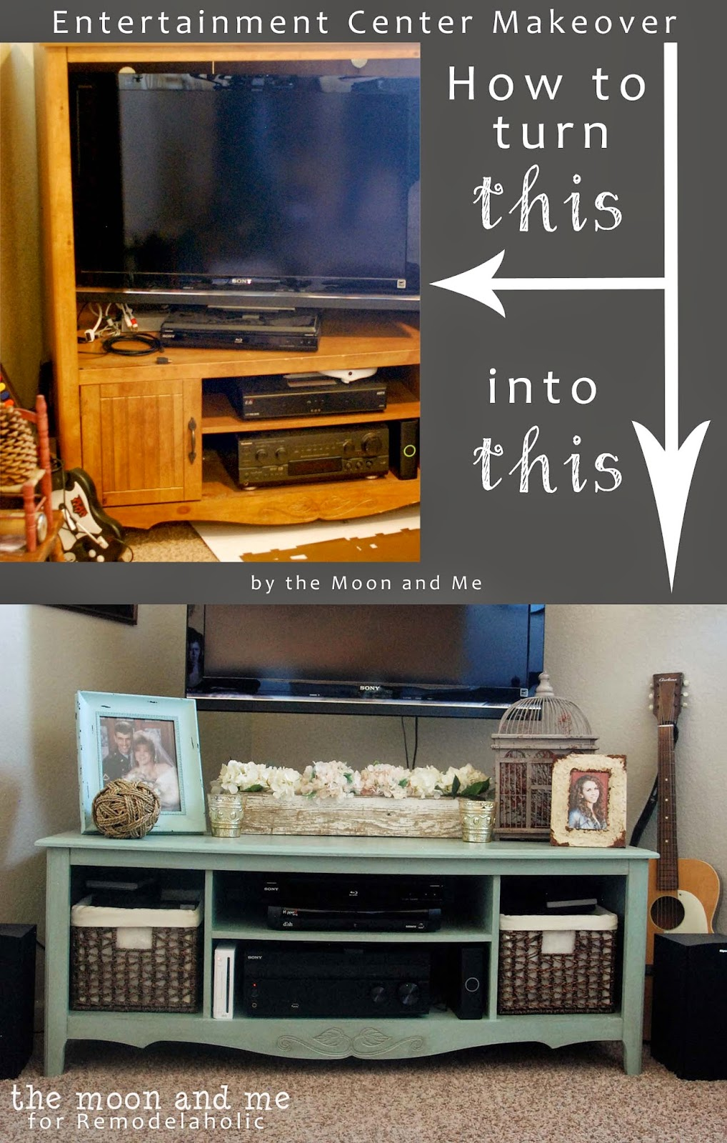 How To Turn A Garage Into A Bedroom: Turn An Entertainment Center Into A TV