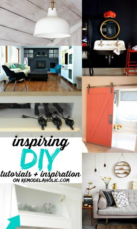 Inspiring DIY Tutorials and Inspiration on Remodelaholic.com #remodelaholic #diy #tutorials