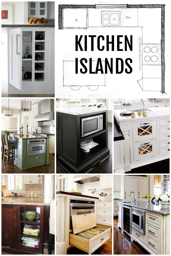 Kitchen Island Layouts And Design Via Remodelaholic.com