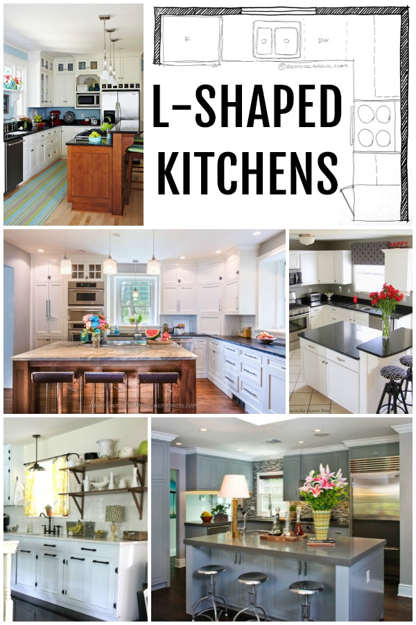 Remodelaholic popular kitchen layouts and how to use them L shaped room kitchen designs