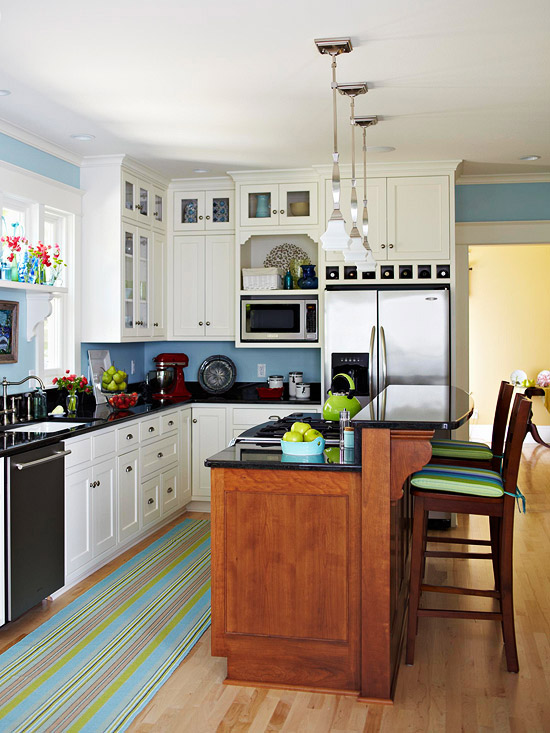 Remodelaholic popular kitchen layouts and how to use them for L kitchen layout with island