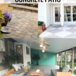 Makeover Ideas For A Concrete Patio Update And How To Dress It Up. Lots Of Great Ideas Featured On Remodelaholic.com