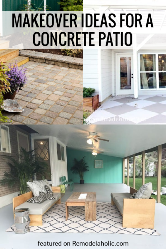 Concrete Patio Ideas For A Makeover, How To Make My Concrete Patio Look Better