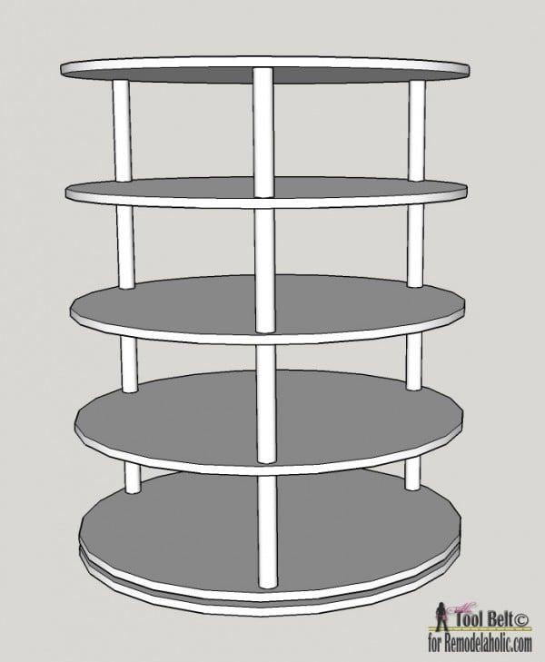 round shoe rack plans