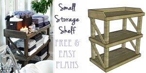 Small storage shelf free and easy plans on remodelaholic