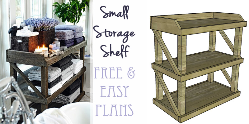 Remodelaholic Diy Small Open Shelf Building Plan