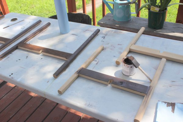 Staining the Plant Stand