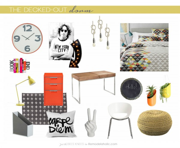 The Decked-Out Dorm: Tips for decorating your dorm room on Remodelaholic.com