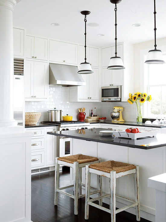 Remodelaholic popular kitchen layouts and how to use them for Bhg kitchen design