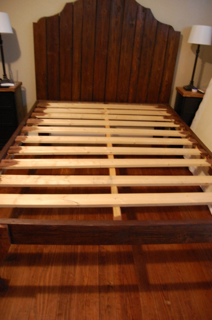 Stunning attach rustic wood headboard to rustic wood bed frame The Accent Piece on Remodelaholic