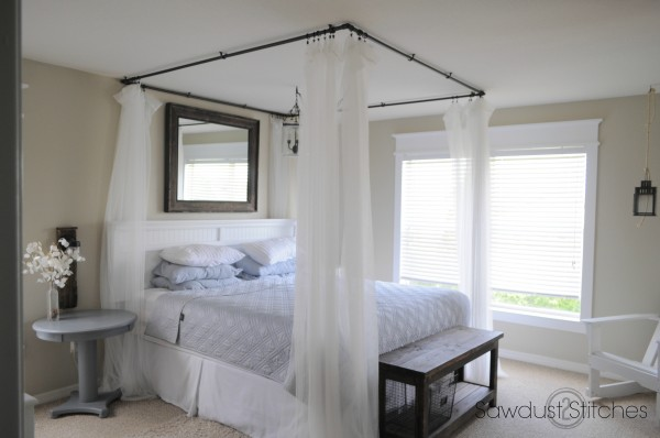 Remodelaholic 10 classy pvc projects for Build your own canopy bed