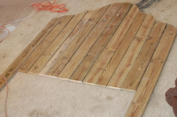 build a rustic wood headboard, The Accent Piece on Remodelaholic