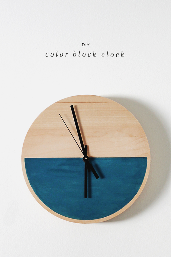 color block clock