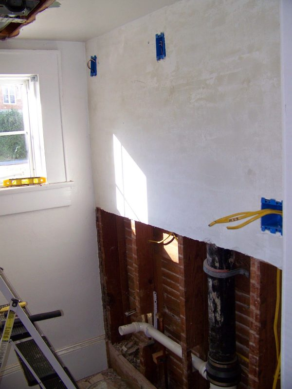 complete bathroom remodel 01, Seesaws and Sawhorses on Remodelaholic