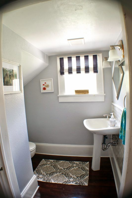 complete bathroom remodel 12, Seesaws and Sawhorses on Remodelaholic