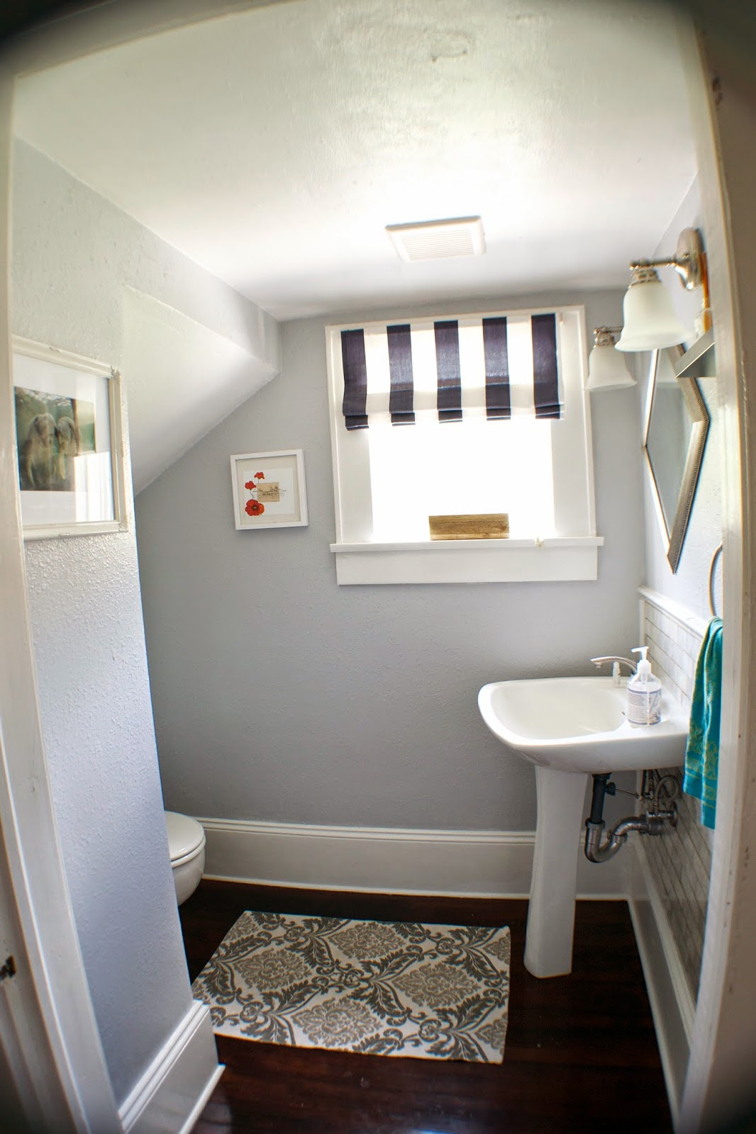 Remodelaholic complete bathroom remodel with marble for Youtube bathroom remodel