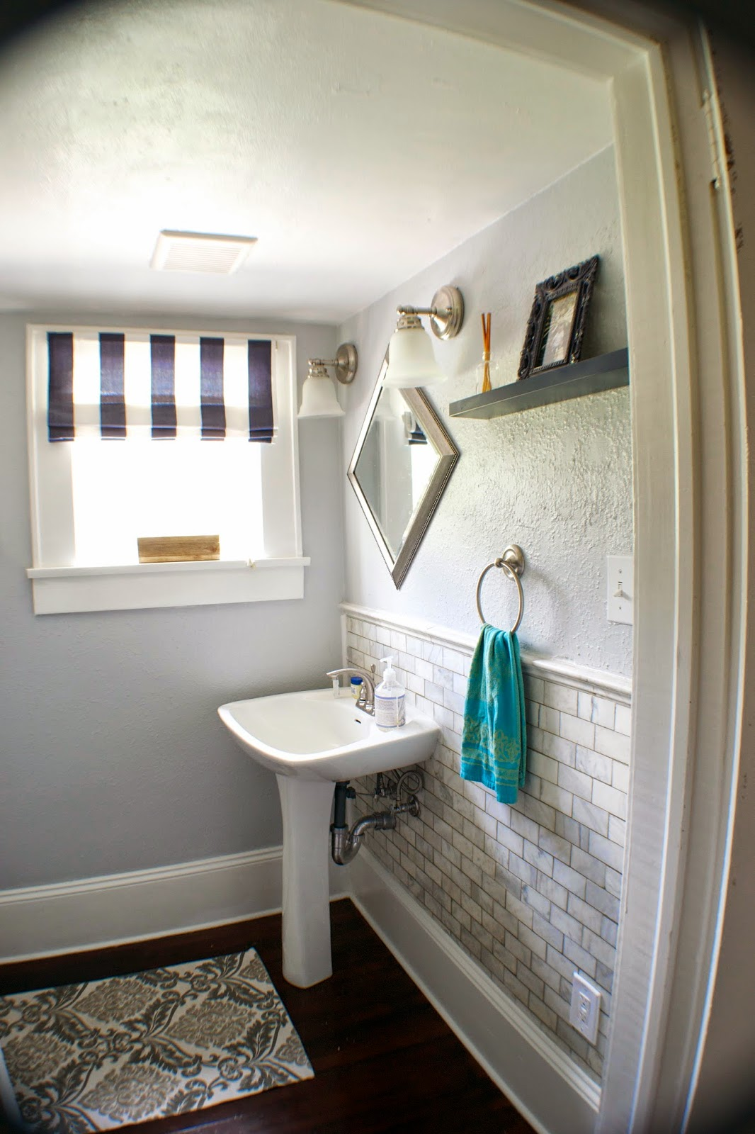 Complete Remodel Storage Room Into Half Bath Seesaws And Sawhorses Via Remodelaholic Com