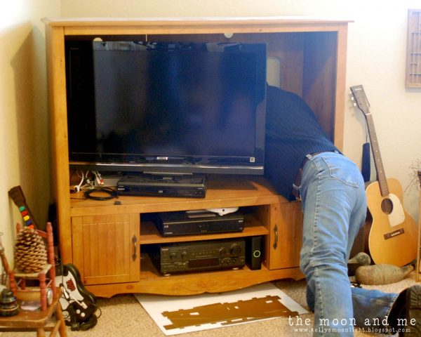 entertainment center makeover before, The Moon and Me on Remodelaholic