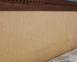 feature burlap and wood trim easy headboard no tools required, Do Not Disturb This Groove on Remodelaholic