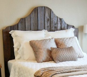 Curvy Reclaimed Wood Headboard Tutorial