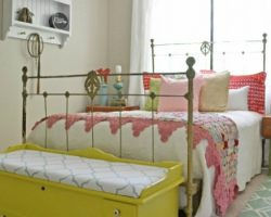 feature vintage guest bedroom
