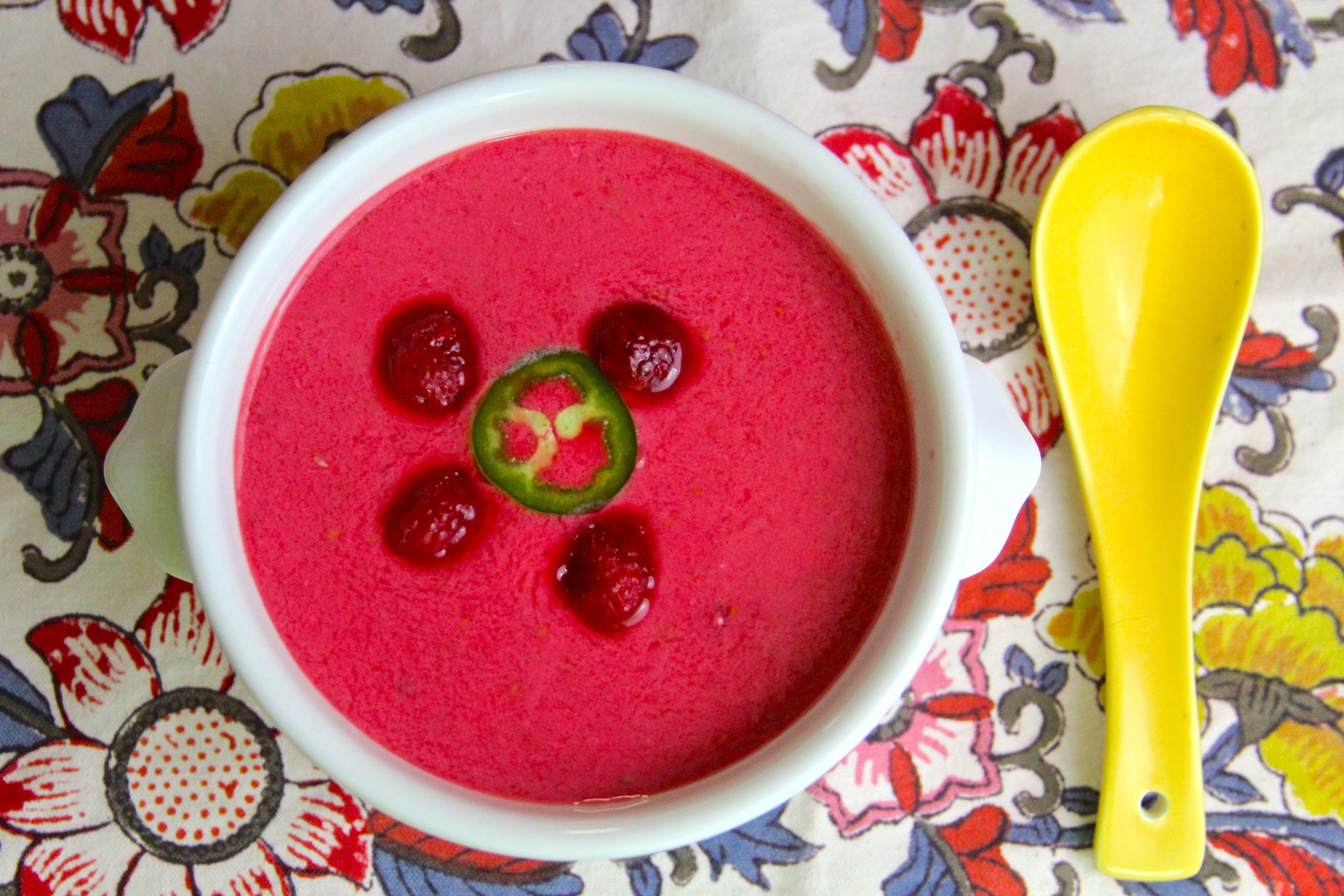 Raspberry Jalapeño Soup