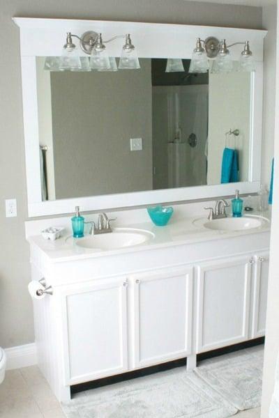 how to make a modern sunrise floating mirror shelf