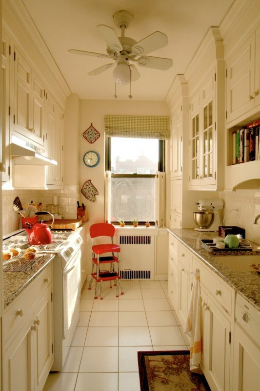 Kitchen Layout Design Ideas kitchen plans layouts and remodeling ideas Galley Kitchen Layout In White With Crown Molding Via Apartment Therapy