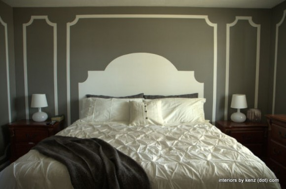 headboard-painted-on-wall-diy-home-decor-blogs & Remodelaholic | 25 No-Headboard Design Ideas pillowsntoast.com