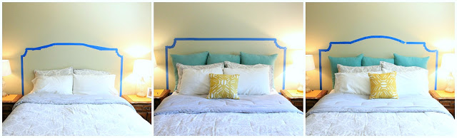 how to choose a headboard shape, from My Clever Nest