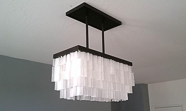 Perfect how to diy faux capiz chandelier x