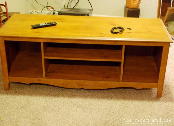 how to turn an entertainment center into a console, The Moon and Me on Remodelaholic
