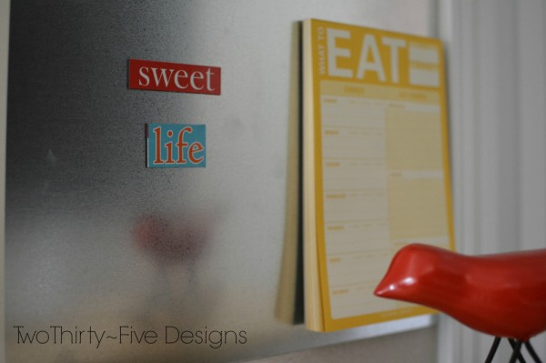 magnet board, Two Thirty Five Designs on Remodelaholic